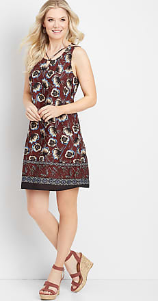 Maurices Floral Border Print Shift Dress