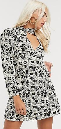 Topshop Petite mini shirt dress in ivory-Cream