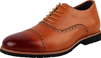 iLoveSIA Mens Oxfords Formal Lace Up Business Leather Shoe Brown UK Size 7.5