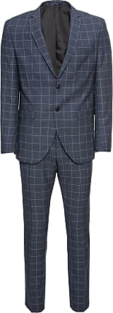 Selected Anzug Myloair Check Suit B Ex dunkelblau