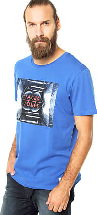 Jack & Jones Camiseta Jack & Jones Shock Crew Azul