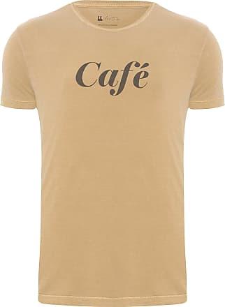 Foxton CAMISETA MASCULINA CAFÉ - MARROM
