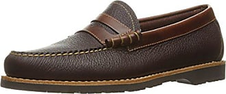 G.H. Bass & Co. Mens Simon Penny Loafer, Dark Taupe/Dark Brown, 8.5 M US