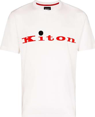 Kiton Camiseta com estampa de logo - Branco