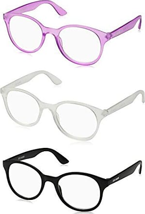 a3542222f8f5 Steve Madden Unisex-Adult Sm63335a SM63335A Round Reading Glasses,  CLR/PURP/BLK