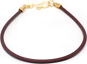Tinna Jewelry Pulseira Dourada Silicone (Marrom)