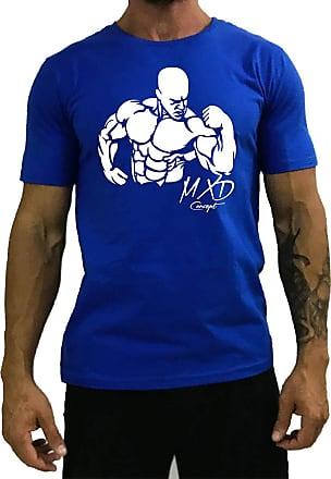 MXD Conceito Camiseta Tradicional Masculina MXD Conceito Biceps Trincado (Azul, GG)