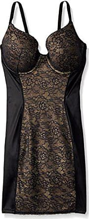 Maidenform Womens Maidenform Shapewear Pretty Foam Cup Slip with Lace, Black Over Body Beige, 38D