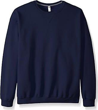 Fruit Of The Loom Mens Fleece Crew Sweatshirt, Navy, XXX-Large