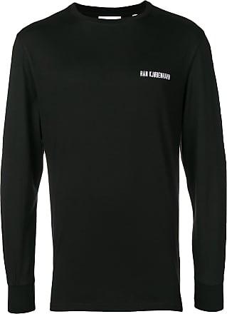Han Kjobenhavn Blusa decote careca com logo bordado - Preto