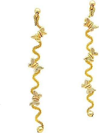 Tinna Jewelry Brinco Dourado Zig-Zag De Borboletas (Dourado)