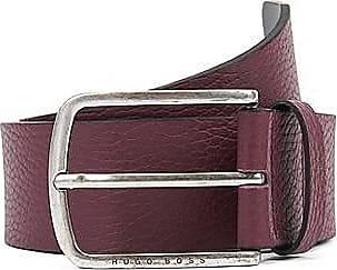 c0a26ef424044c BOSS Gürtel aus genarbtem Leder mit runder Schließe
