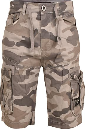 Crosshatch Mens Utility Shorts, (Grey Camo), W30
