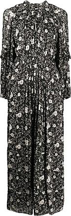 Isabel Marant Vestido longo Estine com estampa floral - Preto