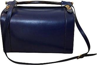 8b54106f021 Hermès C.1960s Hermes Rare Blue Calf Box Leather Train Or Vanity Case Bag