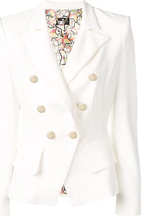 Elisabetta Franchi Blazer com abotoamento duplo - Branco