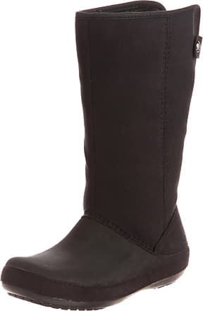 ca0b799038 Crocs Womens Berryessa Tall Faux Suede Boot Shoes