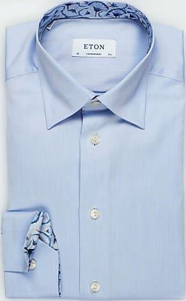 Eton Contemporary Fit Hemd blau, Einfarbig