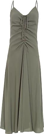 Dress To Vestido Midi Franzido - Verde