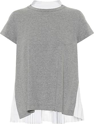 sacai T-Shirt aus Jersey und Popeline