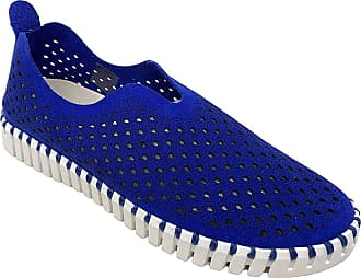 Ilse Jacobsen Womens Tulip 139 Leopard-Print Slip-On Flat (7, Blue Web)