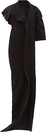 Rick Owens Patti Asymmetric Cut-out Knitted Maxi Dress - Womens - Black