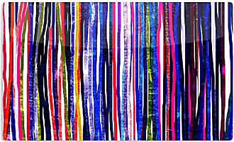 KESS InHouse Frederic Levy-HadidaFancy Stripes Purple Artistic Aluminum Magnet, 2 by 3, Multicolor