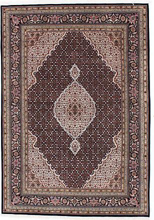 Nain Trading 241x167 Tappeto Indo Tabriz Grigio Scuro/Marrone Scuro (India, Annodato a mano, Lana)