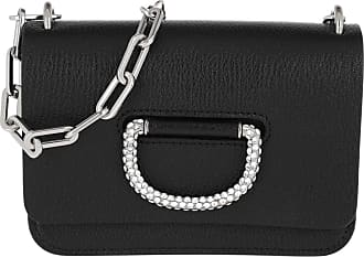 3a0102236c489 Burberry The Mini Crystal D-Ring Bag Leather Black Umhängetasche schwarz