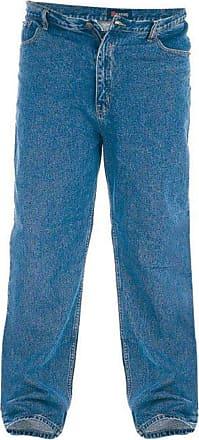 Duke London Duke Mens Rockford Comfort Fit Jeans-Blue-48W X 38L