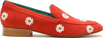 Blue Bird Shoes Loafer Boyish Daysi de camurça - Vermelho