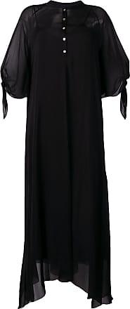 Forte_Forte Vestido translúcido - Preto