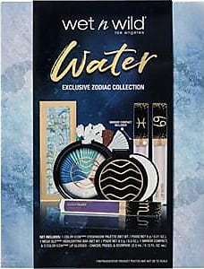 Wet n Wild Make-up Eyes Zodiac Water Set Color Icon Eyeshadow Palette 6 g + Mega Glo Highlighting Bar 8,5 g + Mirror Compact + 3 x Color Icon Lip Glosses 3,5 ml
