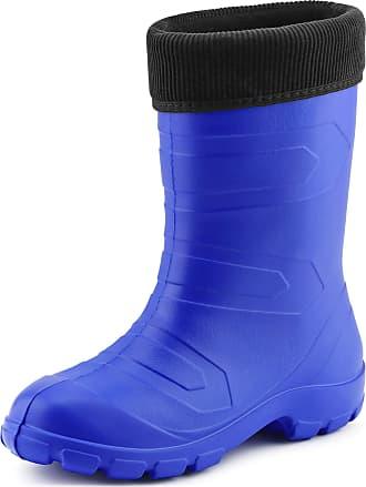 Ladeheid Womens EVA Thermo Extra Light Wellington Boots Rainy Wellies Rain Boots LALMG879 (Cornflower/Black, 4.5 UK)