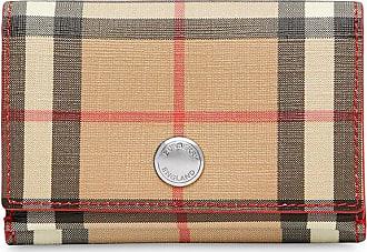 Burberry Small Vintage Check E-canvas Folding Wallet - Vermelho