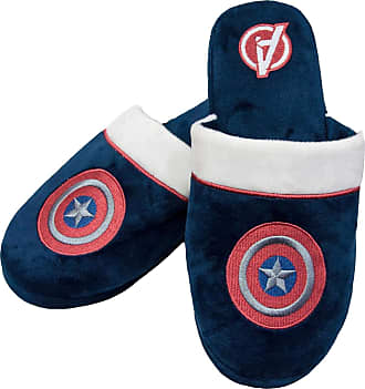 MARVEL Captain America Shield Logo Avengers Mens Navy House Slippers