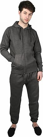 Parsa Fashions Mens Tracksuit Set Full Sleeve Fleece Zipper Hoodie Top Bottoms Jogging Joggers Gym CONTRAST And PLAIN - Available in PLUS SIZES (Small to 5XL)