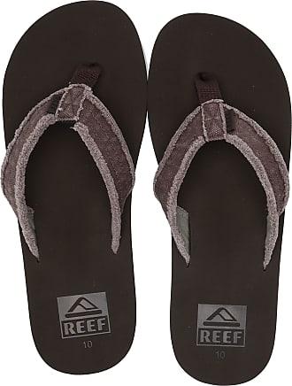 Reef Mens TWINPIN FRAY Flip Flops, Brown Brown Bro, 11 UK