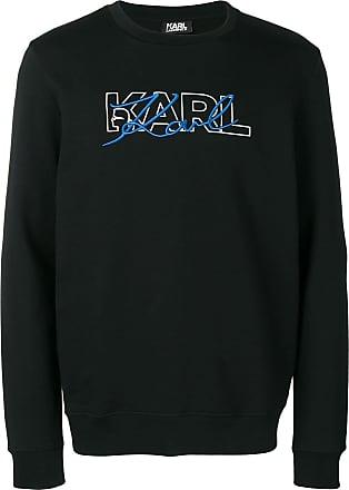 Karl Lagerfeld logo embroidered sweatshirt - Black