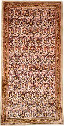 Nain Trading 134x66 Persian Keshan Rug Runner Brown/Pink (Hand-Knotted, Iran/Persia, Wool)