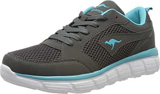 Kangaroos Womens KR-Rimble Sneaker, Grey Steel Grey Turquoise 2106, 7.5 UK