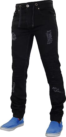 True Face Mens TRF045 LODN Jeans Black 32R