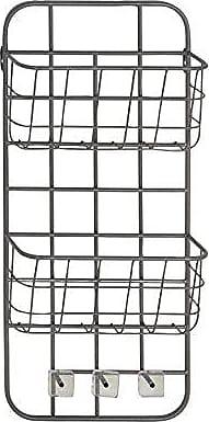 UMA Enterprises Inc. Deco 79 45848 Basket Wall Rack, Gray