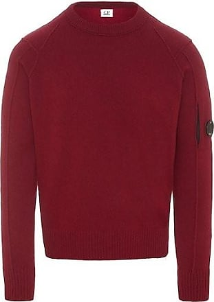 C.P. Company Rote Rübe Lammwolle 05CMKN059A005107A / 587 Arm Lens Crew Knit - Beet Red | 54