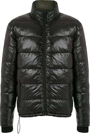 Osklen stand-collar puffer jacket - Black