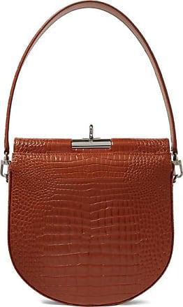 Gu_de Demi Lune Croc-effect Leather Shoulder Bag - Brown