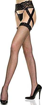 a9f1abf84 Music Legs Womens Plus-Size Criss Cross Lace Fishnet Garterbelt Stockings