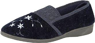 Zedzzz JOANNA Ladies Full Slippers Navy UK 7