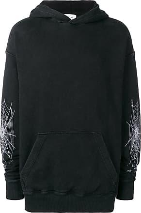 Rhude Blusa de moletom Spider Web com capuz - Preto