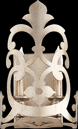 Quorum Charlton 2 Light Wall Sconce in Aged Silver Leaf